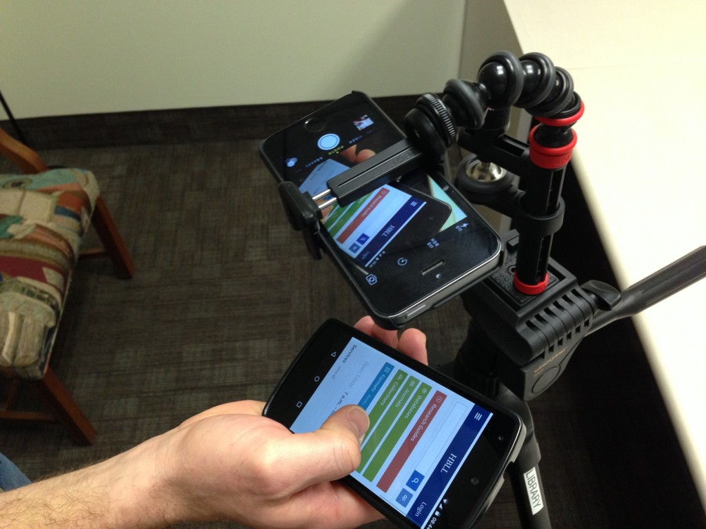 Our Mobile testing setup 3