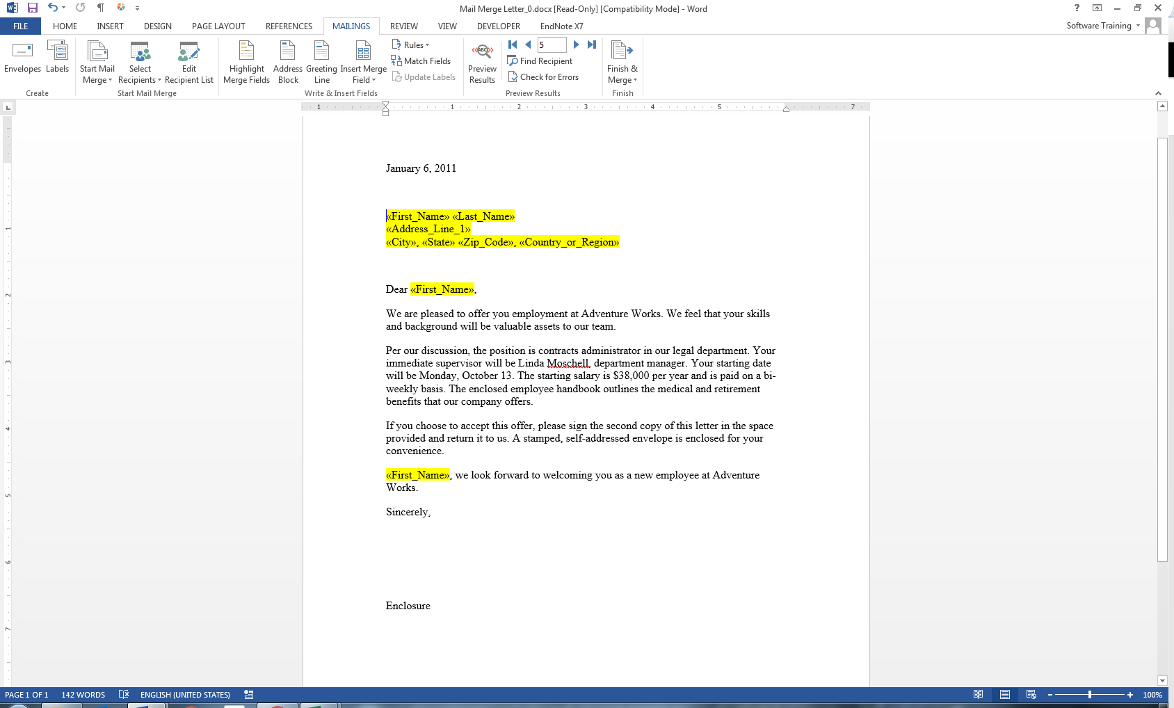 mail merge multiple rows into one document in microsoft word youtube